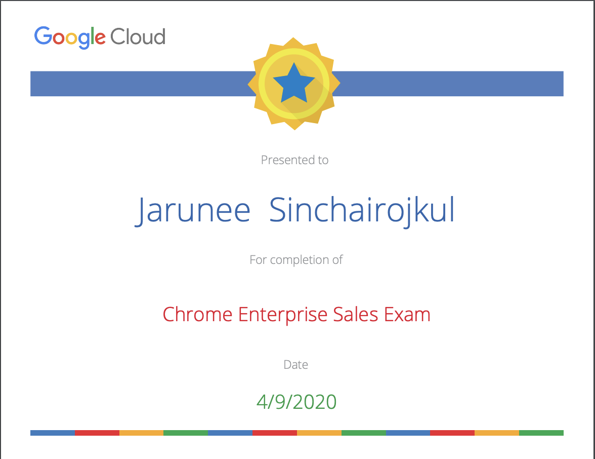 Chrome Enterprise Sales Exam