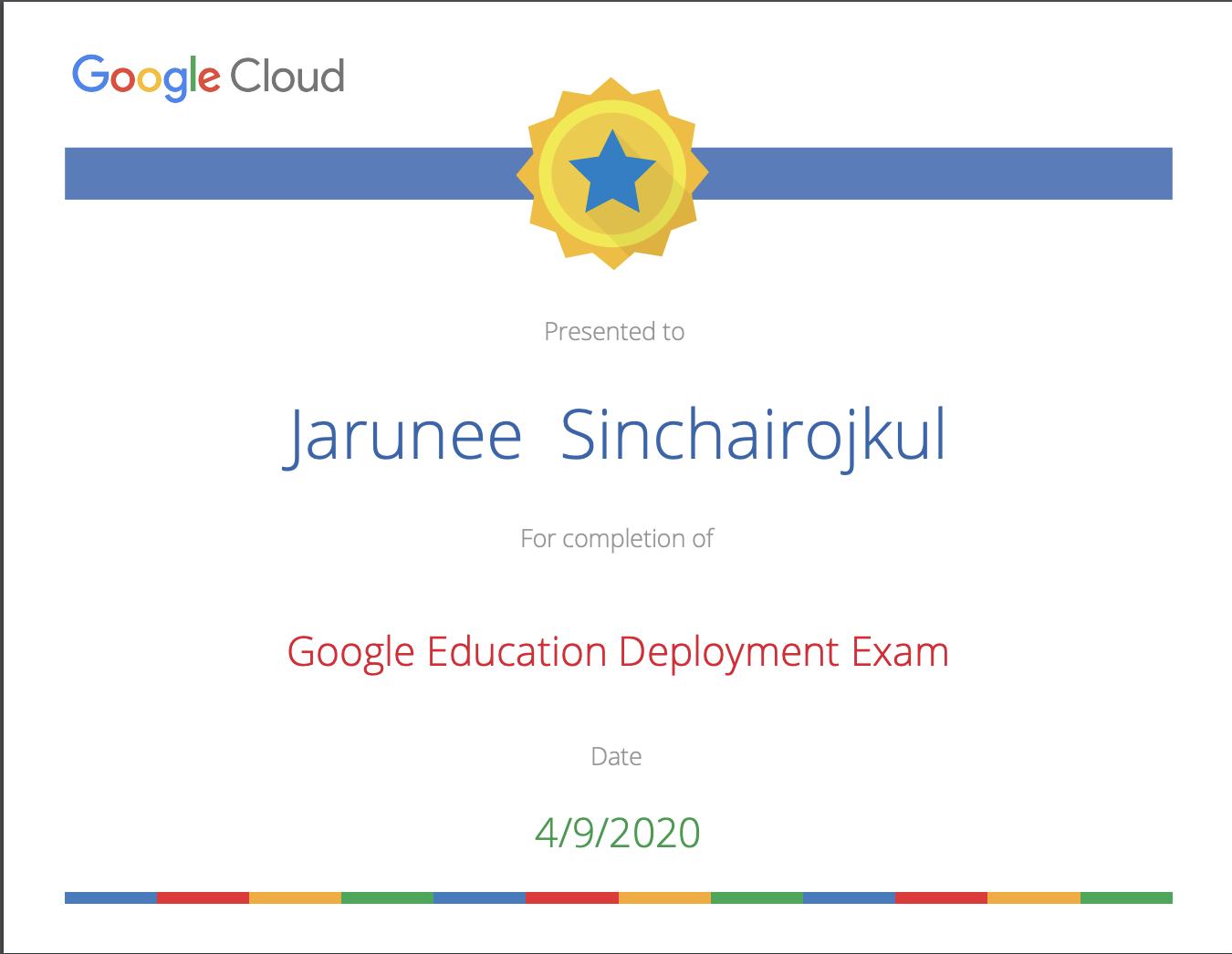 Google Education Deployment Exam