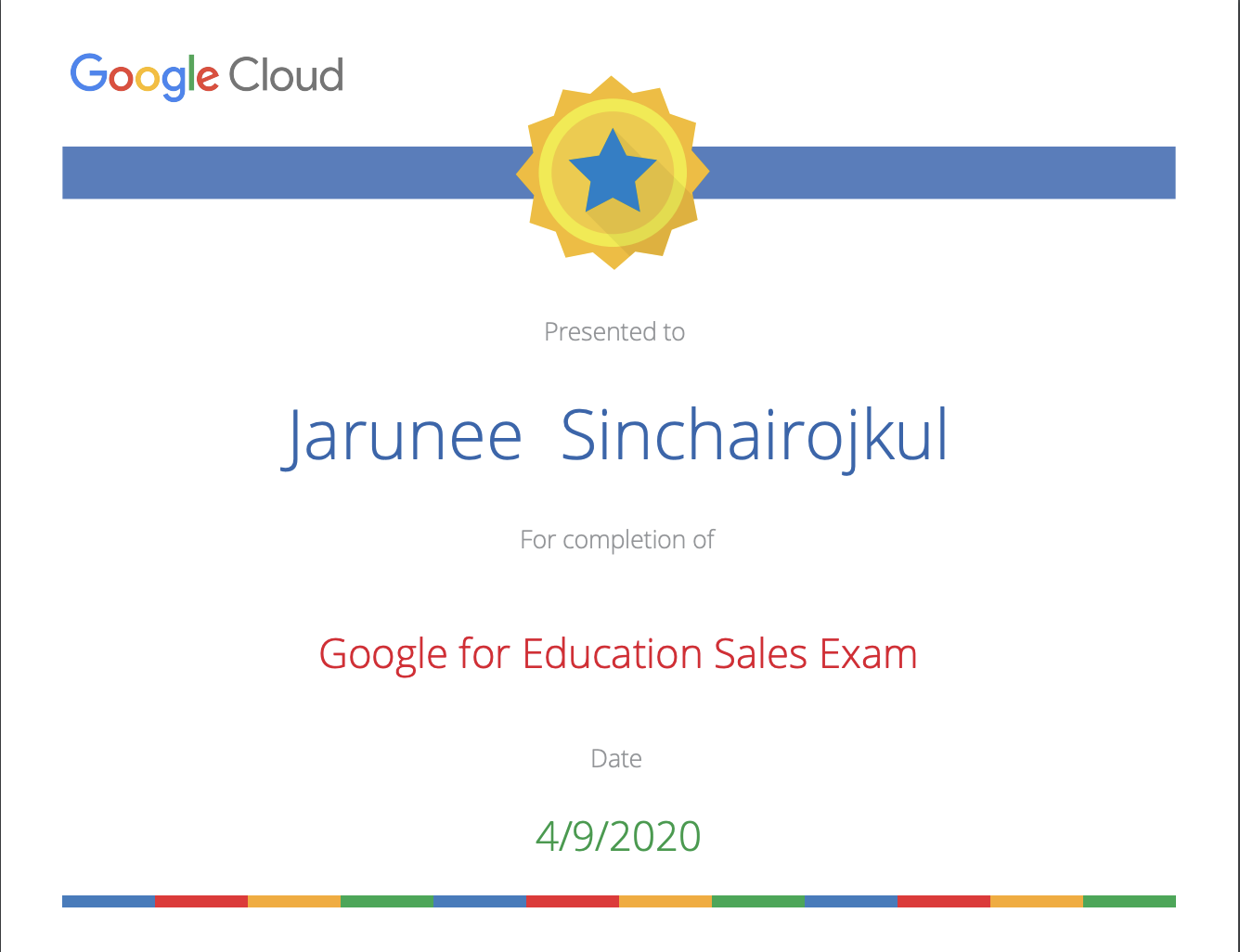 Google for Education Sales Exam